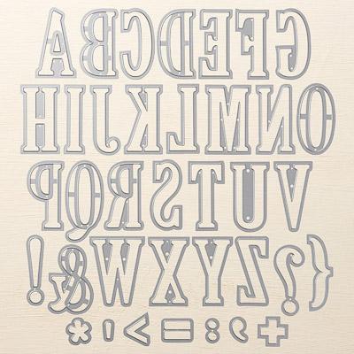Big Shot Framelits Grosse Buchstaben