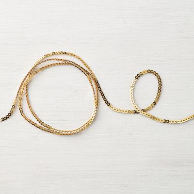 Mini-Paillettenband In Gold