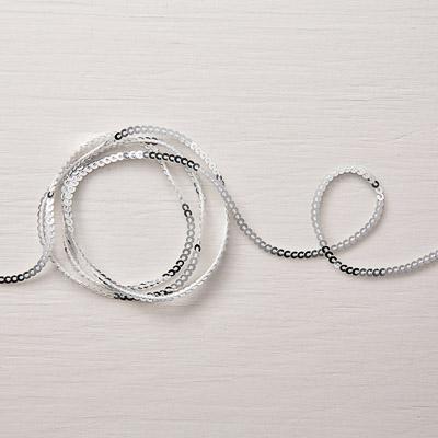 Mini-Paillettenband In Silber