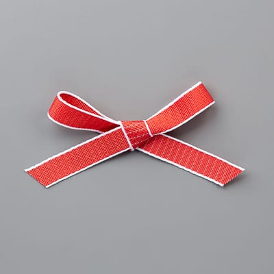 1/2'' (1,3 Cm) Geschenkband Mit Webstruktur In Blutorange