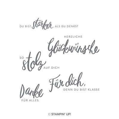Stempelset Transparent Liebevolle Worte