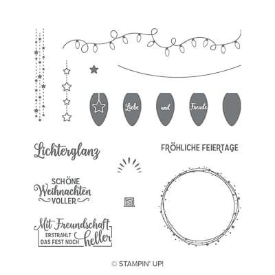 Stempelset Klarsicht Leuchtende Weihnachten