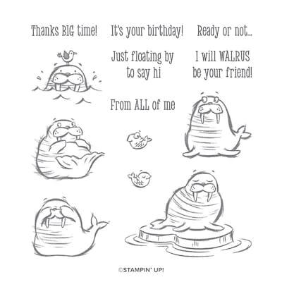 Stempelset Ablösbar We'Ll Walrus Be Friends