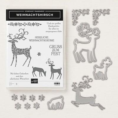Produktpaket Weihnachtshirsch (Für Transparente Blöcke)