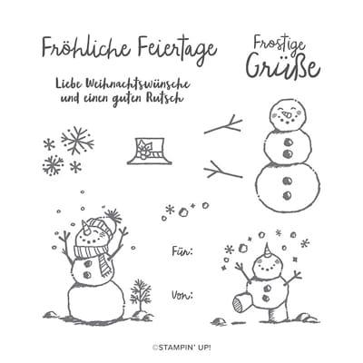 Stempelset Klarsicht Frostige Grüsse (De)