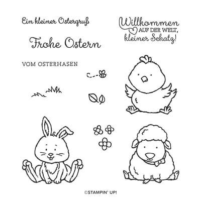Stempelset Ablösbar Osterschatz (De)