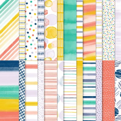 Designerpapier Jede Menge Muster