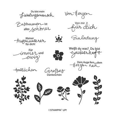 Stempelset Ablösbar Zauberhafte Grüsse (Deutsch)