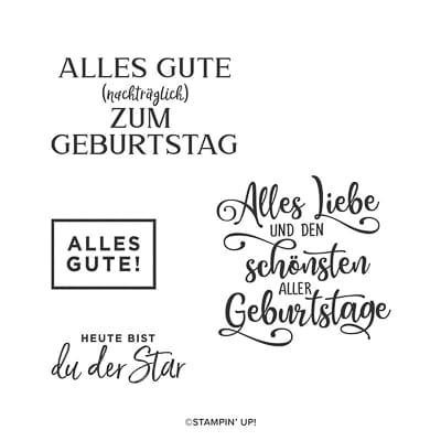 Stempelset Ablösbar Schönster Geburtstag (Deutsch)