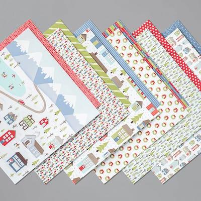 Designerpapier Adventsstädtchen
