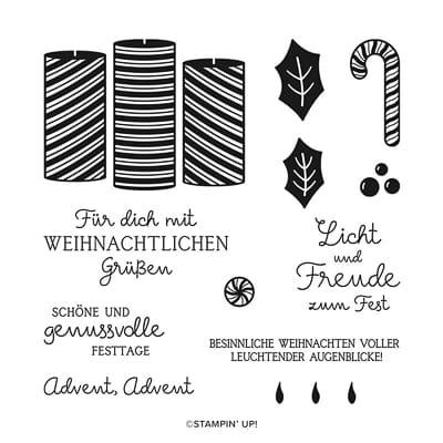 Stempelset Klarsicht Advent, Advent (Deutsch)