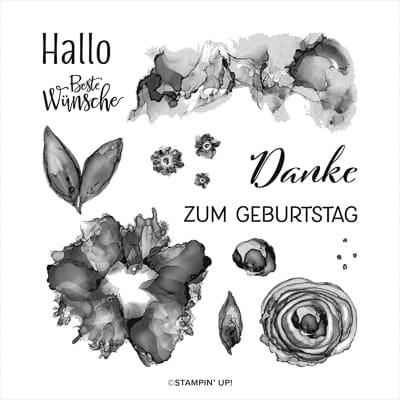 Stempelset Ablösbar Kunstvoll Koloriert (Deutsch)