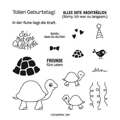 Stempelset Klarsicht Chill-Kröten (Deutsch)