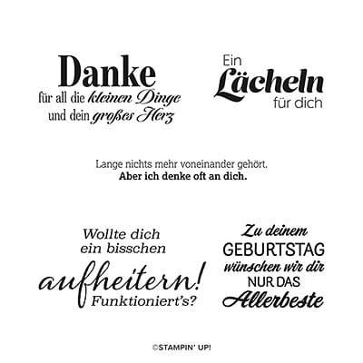 Stempelset Ablösbar Freundliche Grüsse (Deutsch)