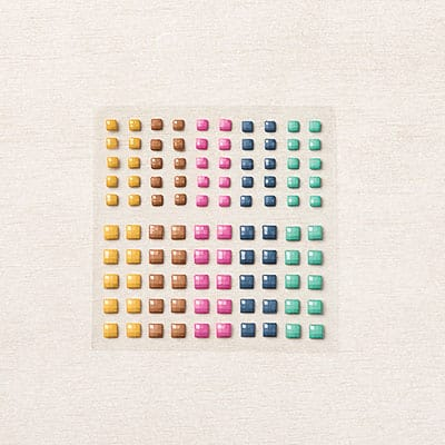 Quadratische Schmucksteine In Color 2020–2022