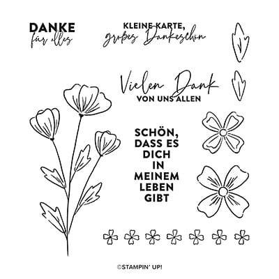 Stempelset Ablösbar Freundschaftsblüten (Deutsch)