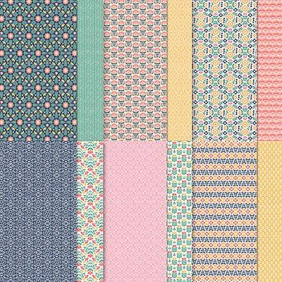 Designerpapier Fantasie In Symmetrie 12'' X 12'' (30,5 X 30,5 Cm)