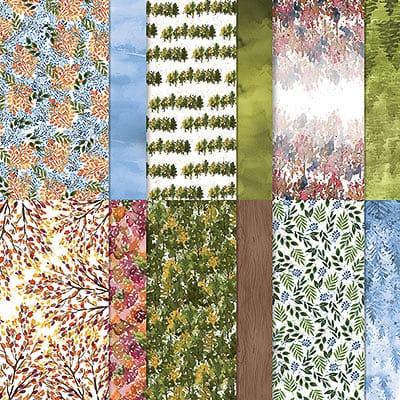 Designerpapier 12'' X 12'' (30,5 X 30,5 Cm) Schöne Natur