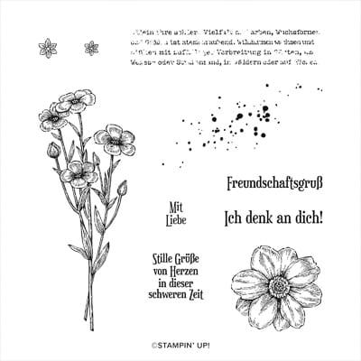Stempelset Ablösbar Wiesenruhe (Deutsch)