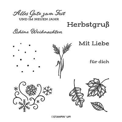 Stempelset Ablösbar Freude Am Schenken (Deutsch)