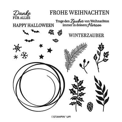 Stempelset Klarsicht Schöner Kranz (Deutsch)