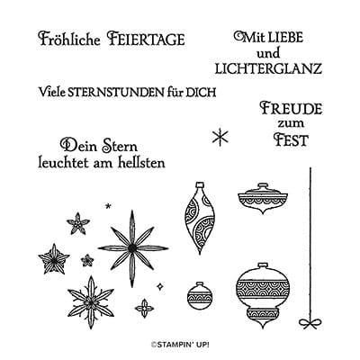 Stempelset Klarsicht Funkelnde Sterne (Deutsch)