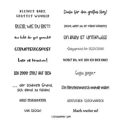 Stempelset Ablösbar Grussfamilie (Deutsch)